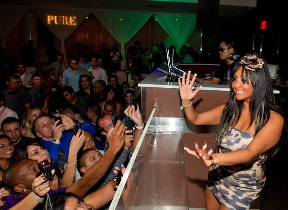 "Nicole ""Snooki"" Polizzi hosts at PURE Nightclub"