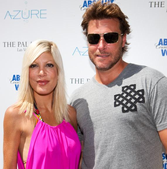 Tori Spelling and Dean McDermott at AZURE