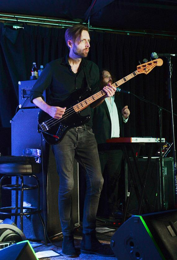 Bass guitarist Mark Stoermer of the Killers performs at Bunkhouse