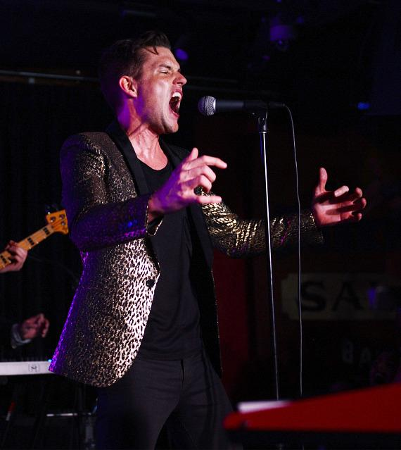 Brandon Flowers of the Killers performs at Bunkhouse