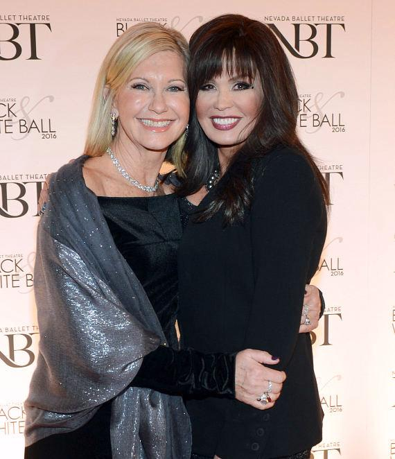 Olivia Newton-John and Marie Osmond at 32nd Annual Black & White Ball