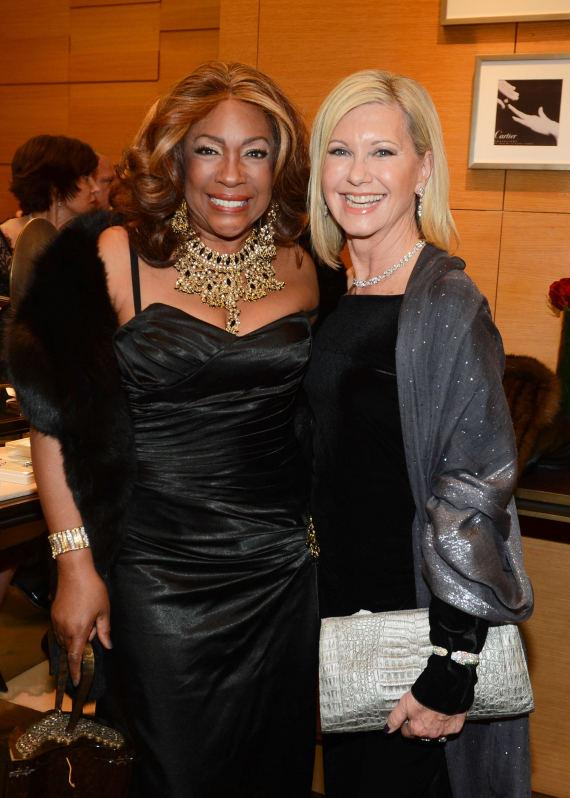 Mary Wilson and Olivia Newton-John attend Nevada Ballet Theater's 32nd Annual Black & White Ball VIP party at Wynn Las Vegas