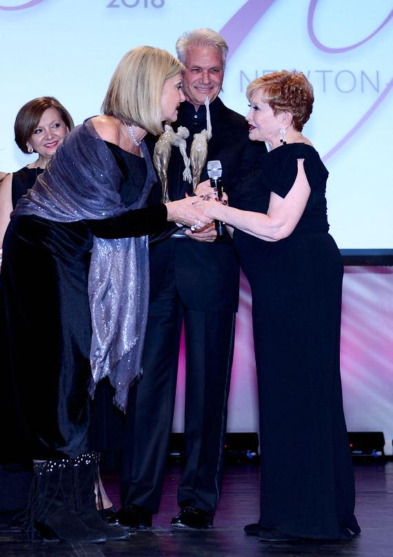 Olivia Newton-John receives an award during Nevada Ballet Theater's 32nd Annual Black & White Ball at Wynn Las Vegas on January 23, 2016 in Las Vegas, Nevada
