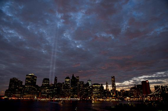 """The Tribute In Light"" at the World Trade Center"