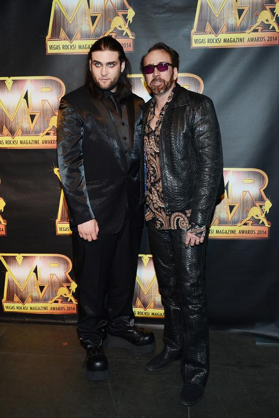 Wes Cage and Nicolas Cage at The 5th Annual Vegas Rocks! Magazine Music Awards