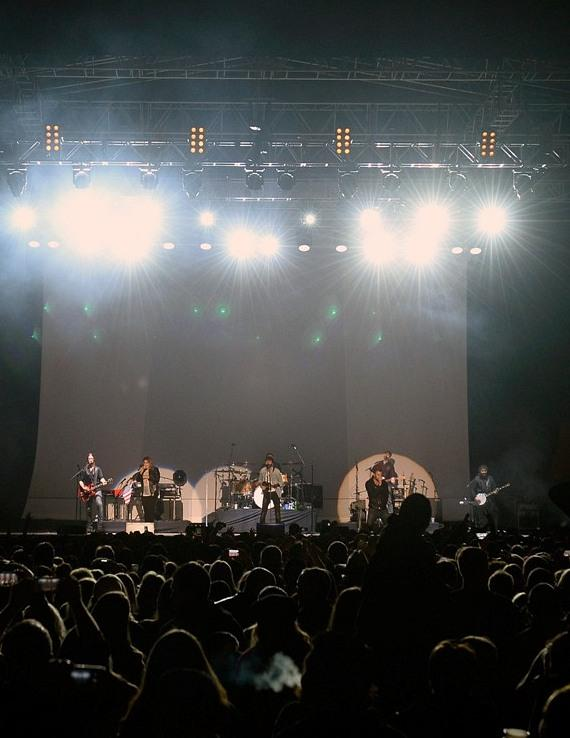 A sea of fans look on as Lady Antebellum takes the stage at Downtown Las  Vegas Events Center