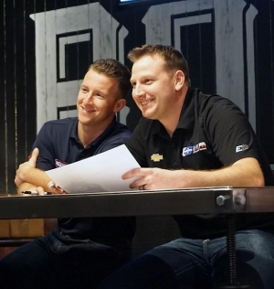 NASCAR Drivers A.J. Allmendinger and Michael McDowell stop by Double Barrel Roadhouse