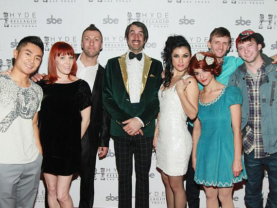 ABSINTHE Cast on Red Carpet at Hyde Bellagio