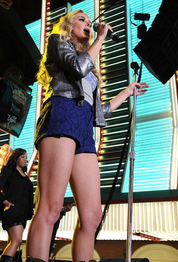 Laura Bell Bundy performs at Fremont Street Experience in Las Vegas