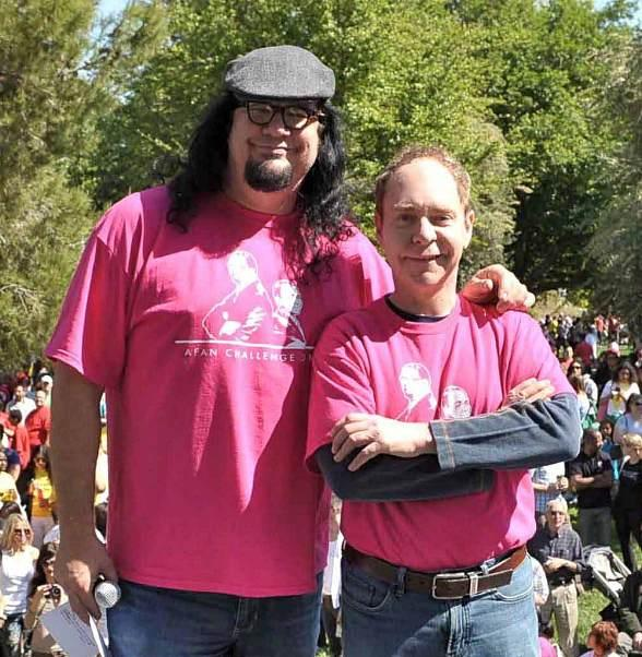 Penn & Teller, grand marshals and leaders of the Penn & Teller Challenge AIDS Walk Team, will host the 24th Annual AIDS Walk Las Vegas on January 9. 2014.