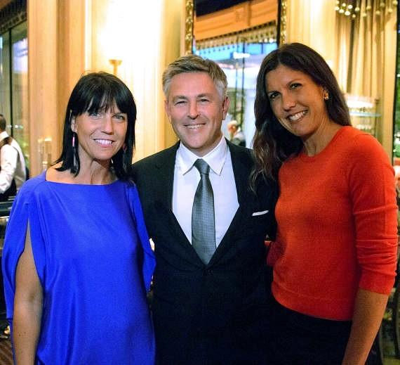 AJ Lambert, Charles Pignone and Amanda Erlinger at the Sinatra 100 book release party at Sinatra restaurant inside Wynn Las Vegas