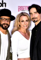 "Backstreet Boys AJ McLean and Kevin Richardson at ""Britney: Piece of Me"" at Planet Hollywood Resort & Casino"