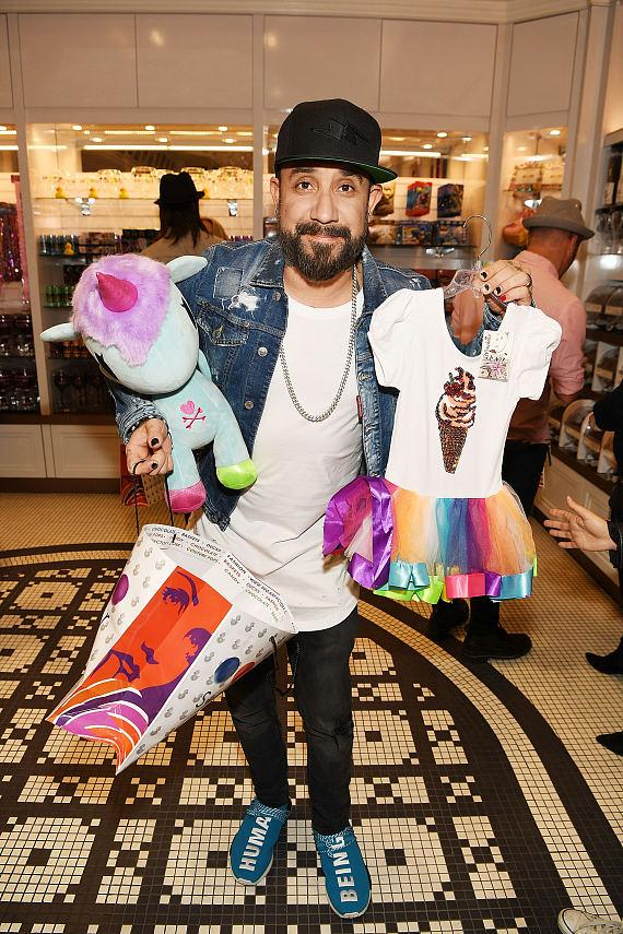 AJ McLean picks up Sugar Factory novelty items for his daughter