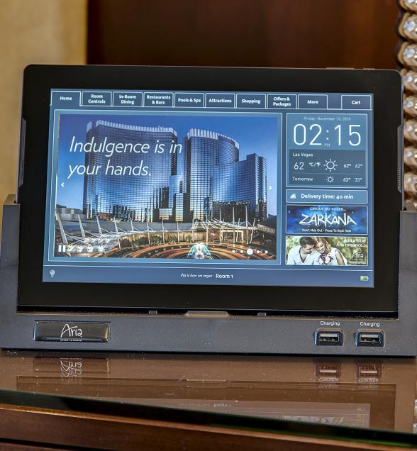 ARIA Resort & Casino Redefines Guest Experience with Launch of In-Room Technology