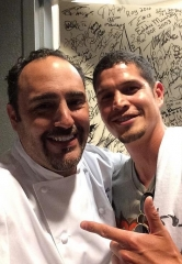 Actor J.D. Pardo dines at N9NE Steakhouse at Palms Casino Resort