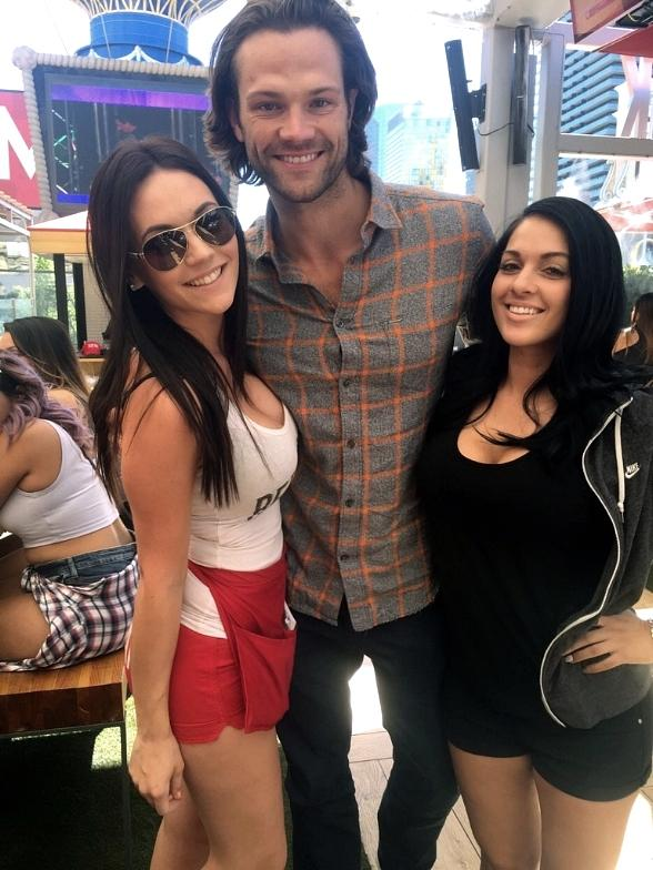 Actor Jared Padalecki Spotted at Beer Park at Paris Las Vegas