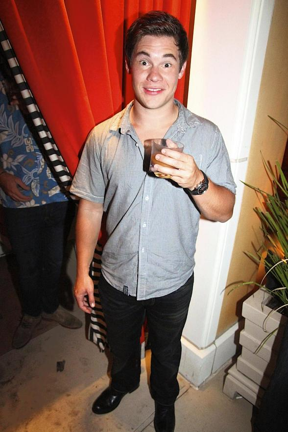 Adam DeVine parties at Surrender Nightclub in Las Vegas