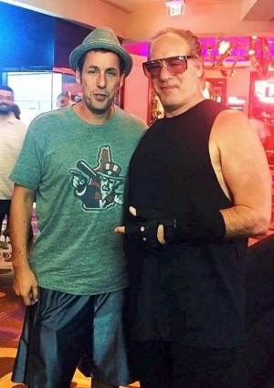 Adam Sandler at Andrew Dice Clay's Show at Vinyl inside Hard Rock Hotel & Casino Las Vegas
