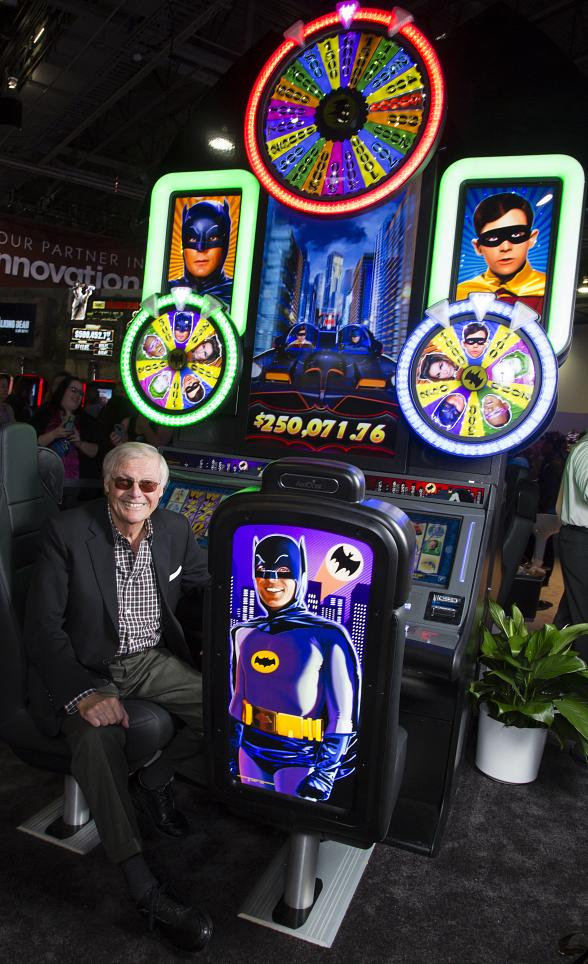 Adam West Appears at G2E in Las Vegas to Promote Batman Classic TV Series Slot Game