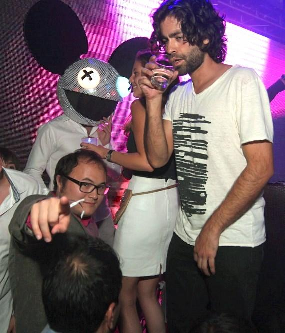 Adrian Grenier drinking at Rain Nightclub