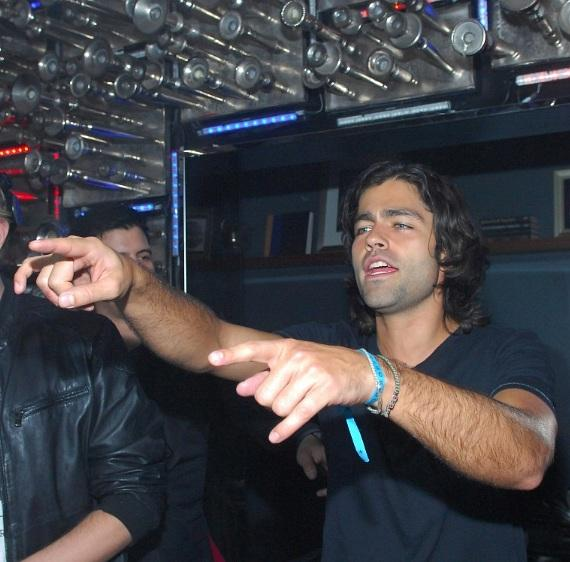 Adrian Grenier in the DJ booth at Hyde Bellagio