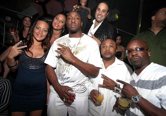 Adrian Ross (second from left) and friends