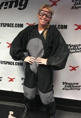 Boston Marathon bombing survivor Adrianne Haslet-Davis takes flight at Vegas Indoor Skydiving