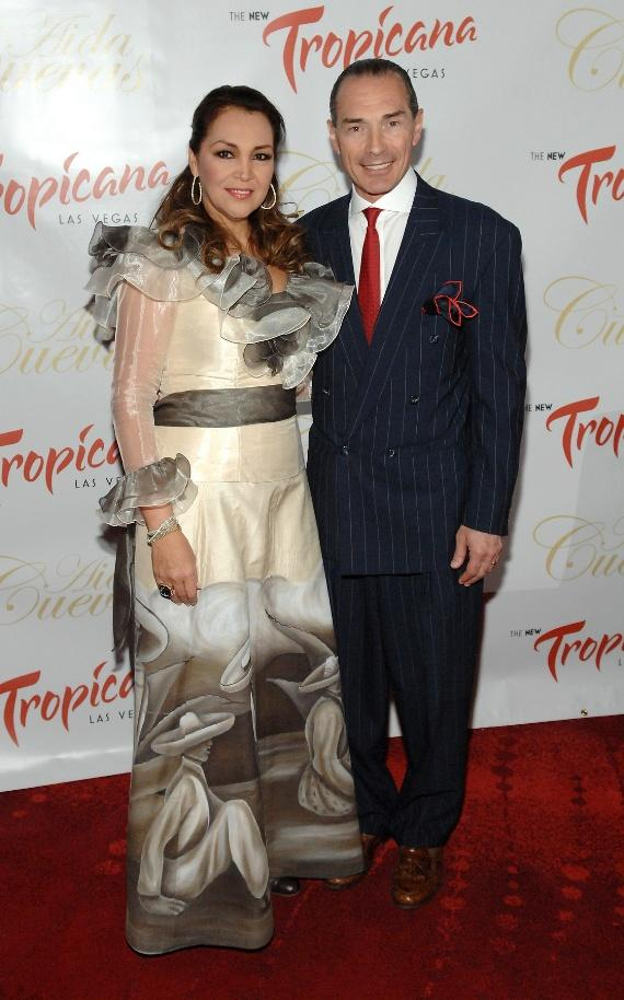 Aida Cuevas with Chairman and CEO of Tropicana Las Vegas,  Alex Yemenidjian.
