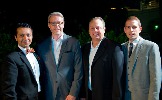 Alan Semsar (CEO, Barcelona Enterprises) , Julian Griffiths (Vice President of Food & Beverage, The Mirage), Trevor Scherrer (President and COO of The Mirage) , Kris Moon (Director of Charitable Giving, James Beard Foundation)
