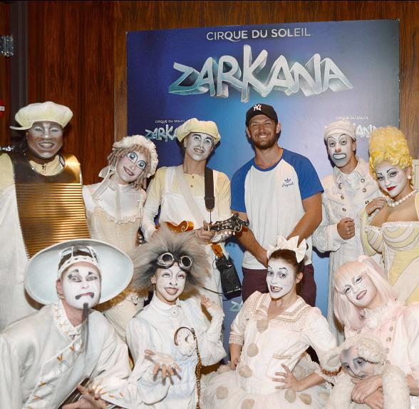 Alex Pettyfer Visits Zarkana by Cirque du Soleil at ARIA Resort & Casino