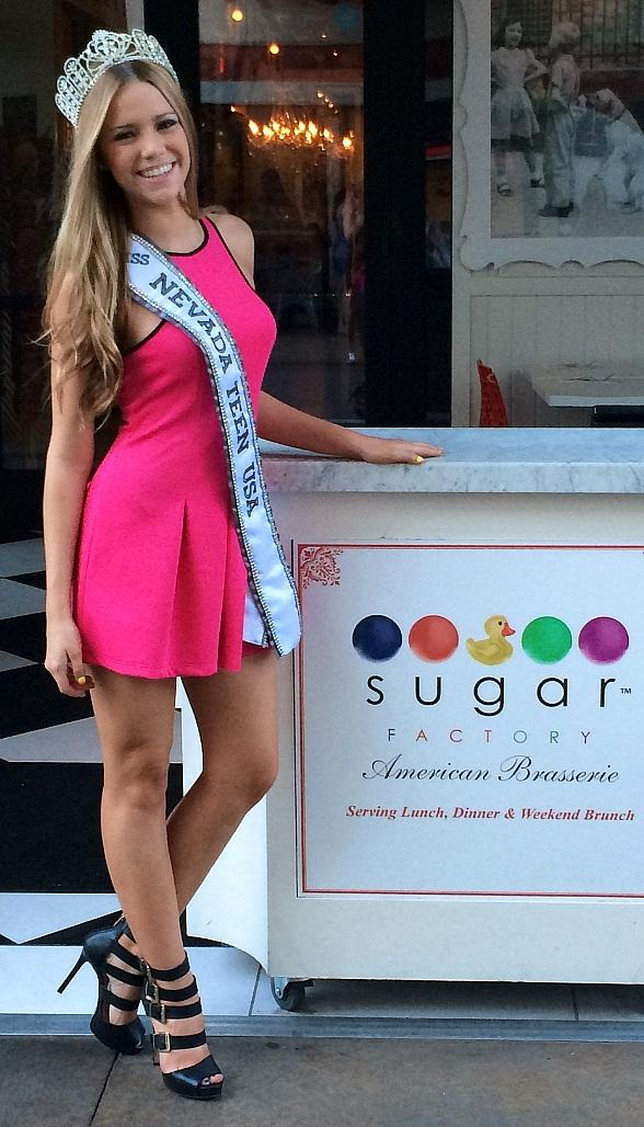 Miss Nevada Teen USA 2014 Alexa Taylor Celebrates Sweet Sixteen at Sugar Factory Town Square in Las Vegas