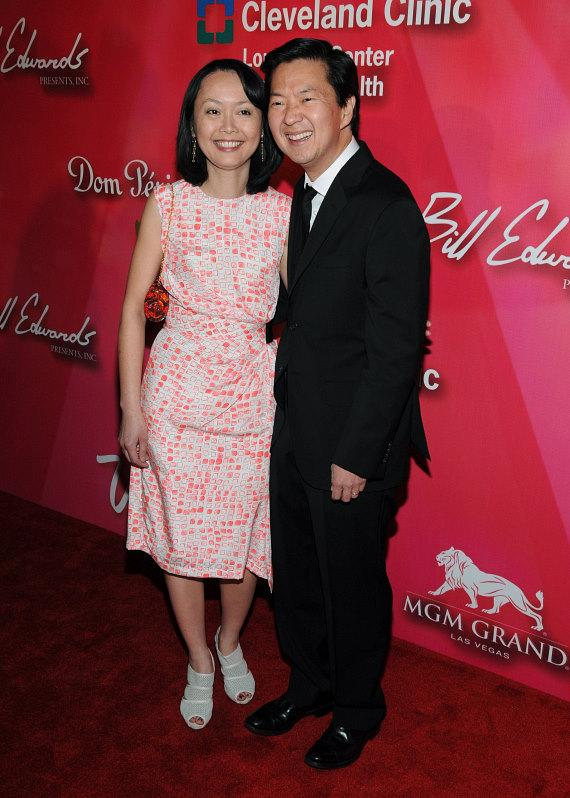 Ken Jeong,right, and wife Tran Ho