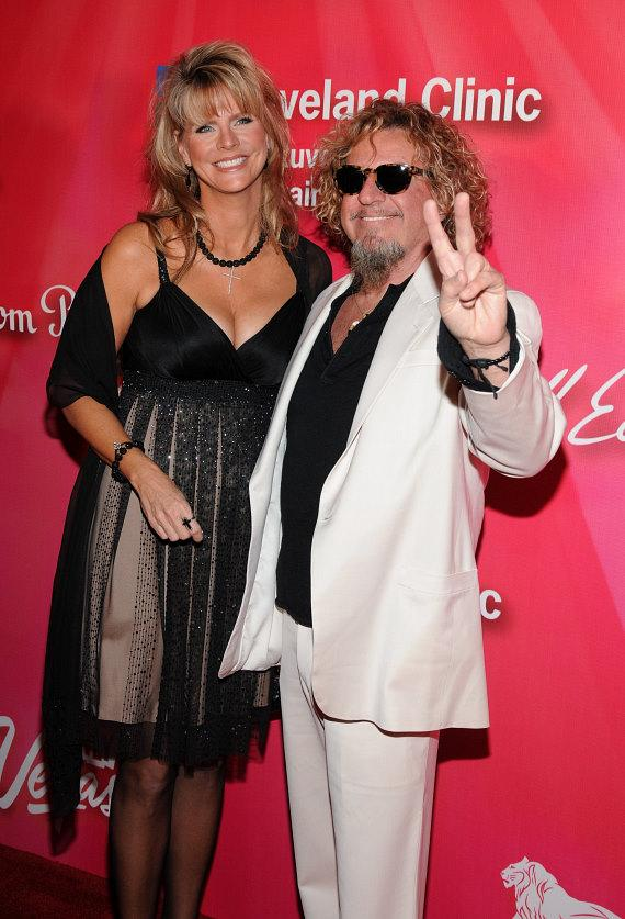 Sammy Hagar (R) and wife Kari Hagar
