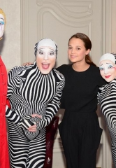 "Oscar & Golden Globe Nominee Alicia Vikander at ""O"" by Cirque du Soleil"