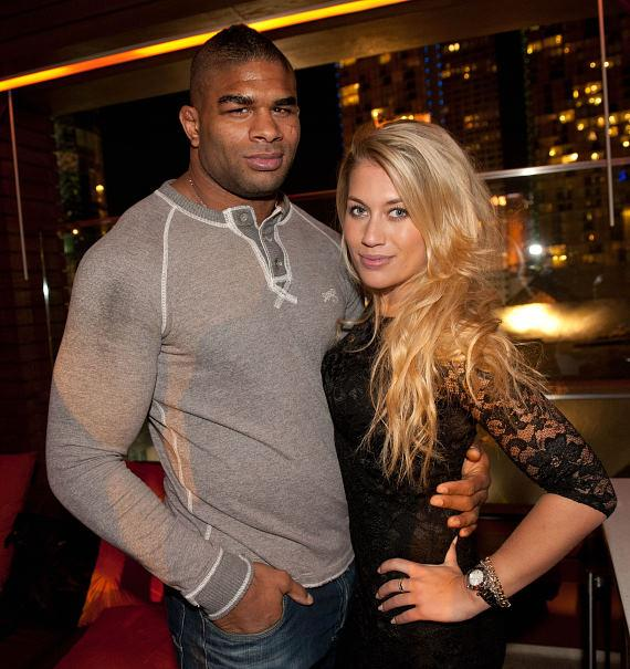 Alistair Overeem and wife Zelina at Marquee