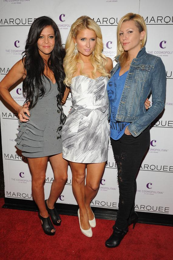 Paris and Nicky Hilton at Marquee Nightclub