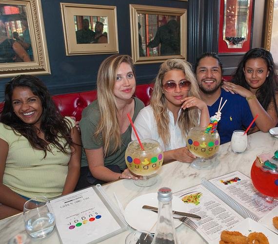 Ally Brooke of Fifth Harmony and Friends at Sugar Factory Las Vegas
