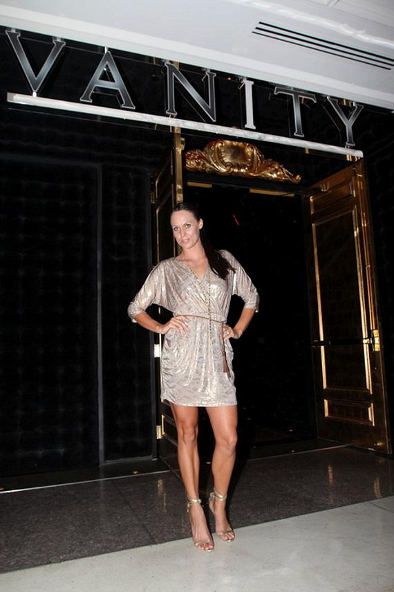 Olympic swimmer Amanda Beard celebrates 30th birthday at Vanity Nightclub