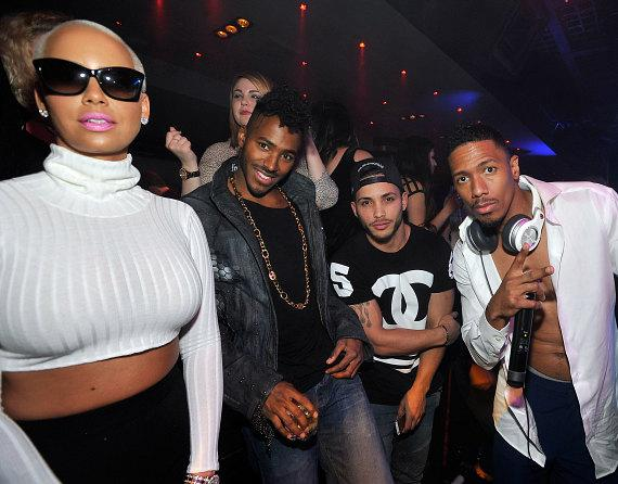 Amber Rose and Nick Cannon at 1 OAK Las Vegas at The Mirage