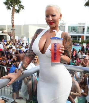 Amber Rose and DJ Fatman Scoop Kick off Memorial Day Weekend at Ditch Fridays at Palms Pool & Dayclub