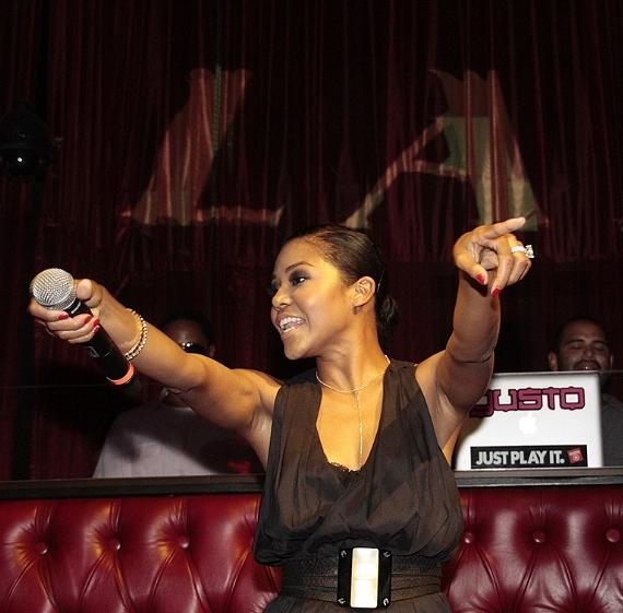 Amerie performs at LAX Nightclub