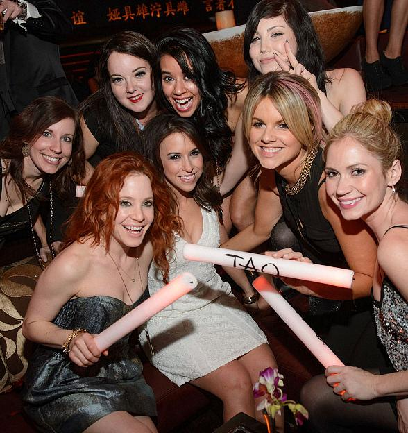 Amy Davidson, Lacey Chabert, Ali Fedotowsky & Friends at TAO Nightclub