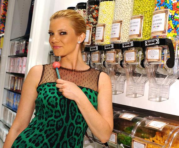 Amy Smart shopping for Couture Pops at Sugar Factory at Paris Las Vegas