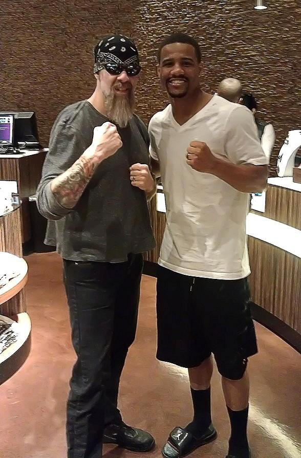 Boxer Andre Dirrell at Club Tattoo Inside Miracle Mile Shops