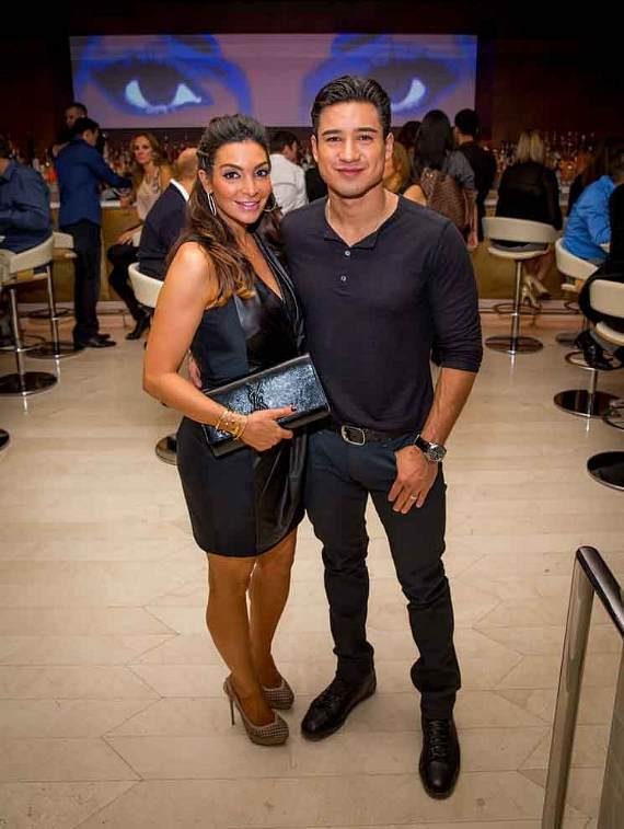 Courtney Mazza Lopez and Mario Lopez at Andreas
