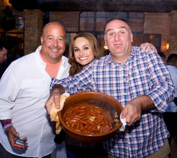 Andrew Zimmern, Giada DeLaurentiis and Jose Andres