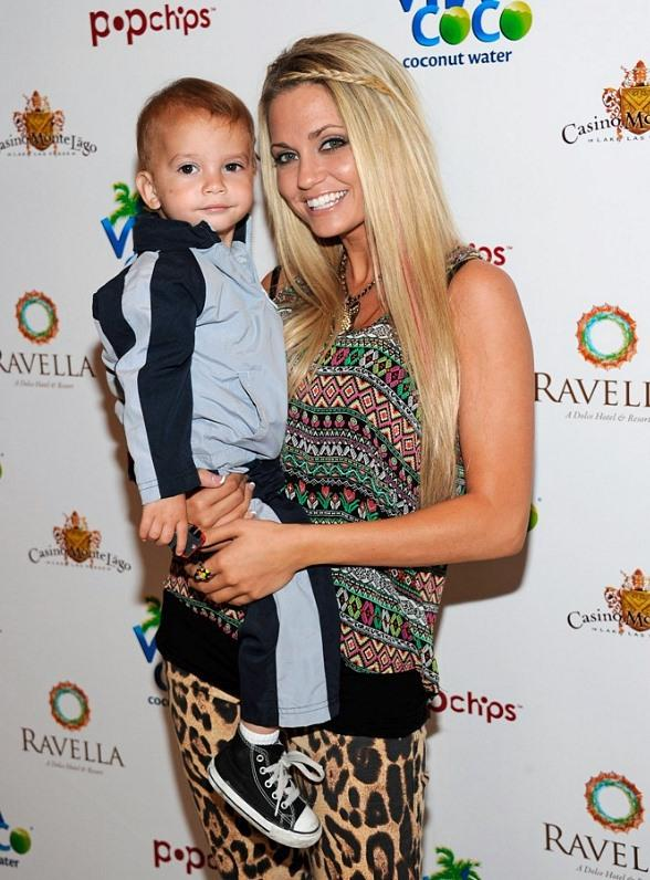 Angel Porrino on the Carpet with Son Roman at Ravella, Las Vegas