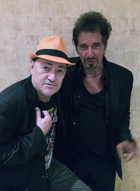 "Former ""Scarface"" Stars Al Pacino and Angel Salazar Meet at The Mirage in Las Vegas"