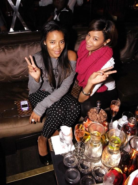 Angela and Vanessa Simmons at Blush Boutique Nightclub