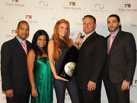 Angelica Bridges with nu sanctuary's partners, from left to right, Timothy Beckett, MD, Naz Wahab, MD, Gino LoPinto and Zaher 'Z' Fakih